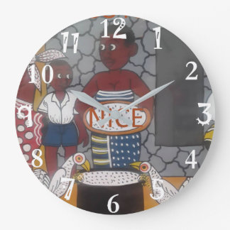 African traditional homestead cute nice lovely col large clock