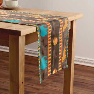 African Tribal animal pattern dining able runner