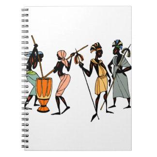 African tribal art notebook