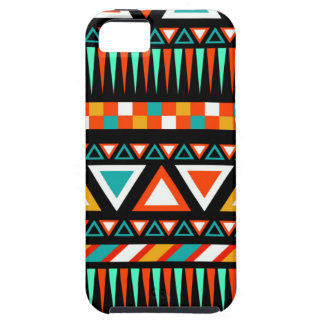African Tribal Bright Vivid Colorful Arrows Mint Tough iPhone 5 Case