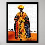 African Tribal Desert  Queen Poster