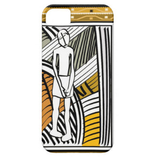 African tribal farmer, gold barely there iPhone 5 case