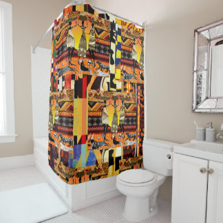 African Tribal Festival Shower Curtain