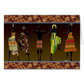 African Tribal Foot Stomp Card