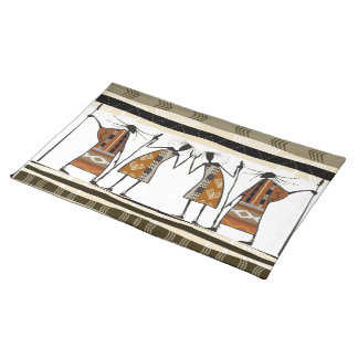 African Tribal Hunters Placemat