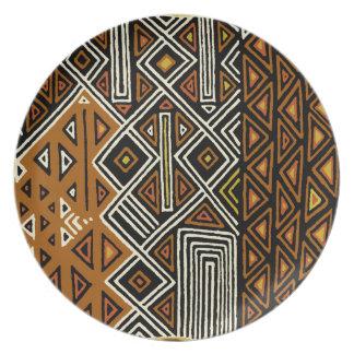 African Tribal Kuba Design Plate