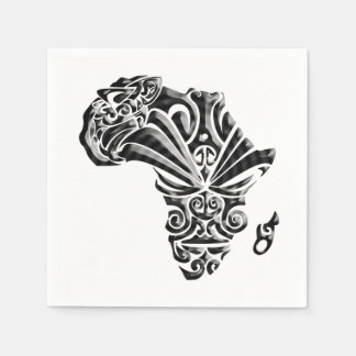 African Tribal Pattern BHM Party Paper Napkins Disposable Napkin
