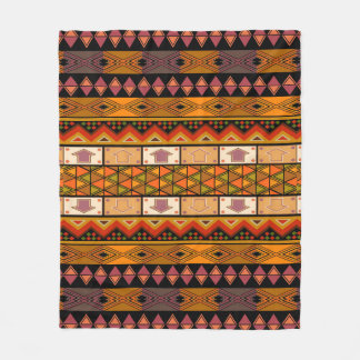 African Tribal pattern home decor blanket