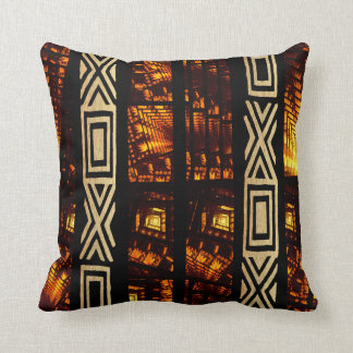 African Tribal Tapestry Motif Cushion
