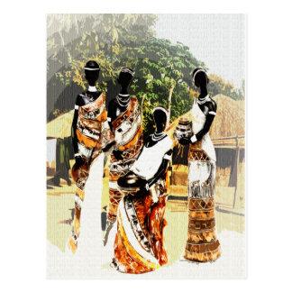 African Tribal Village Women Postcard