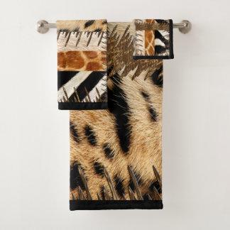 African Tribe Animal Fur Bath Towel Set