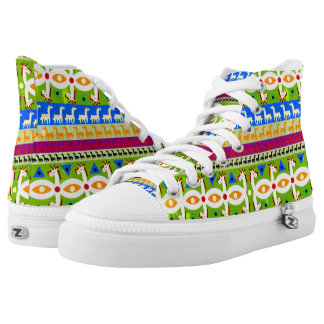 African Unicorn pattern High Tops