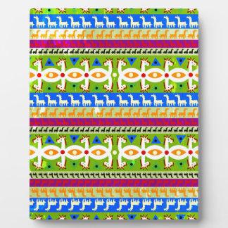 African Unicorn pattern Plaque