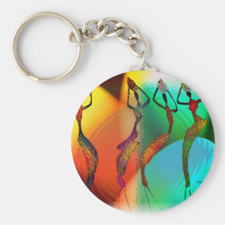 African Vase Confetti  Celebration Basic Round Button Key Ring