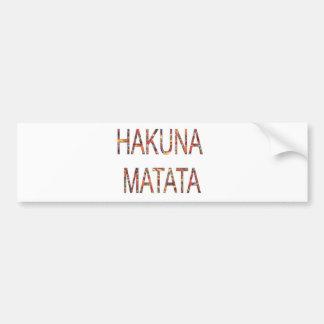 African Vintage Colors Hakuna Matata. Bumper Sticker
