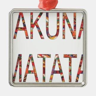 African Vintage Colors Hakuna Matata.jpg Metal Ornament