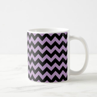 African Violet And Black Zigzag Chevron Coffee Mug
