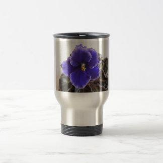 African Violet Blooming Travel Mug