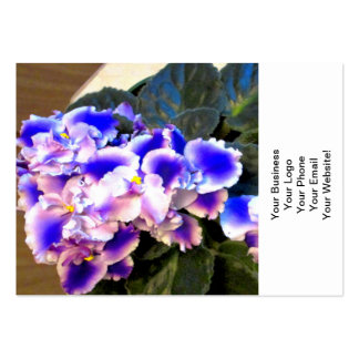 African Violet Blue Business Card Template