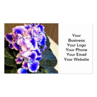 African Violet Blue Business Cards