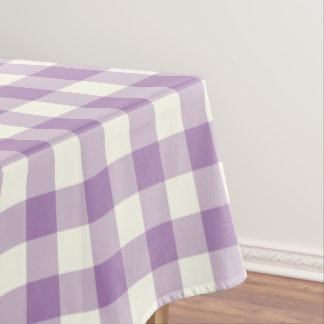 African Violet Gingham Pattern Check Tablecloth