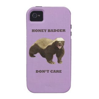 African Violet Honey Badger Dont Care Case-Mate iPhone 4 Cover