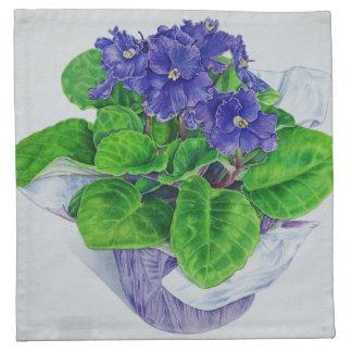 African Violet Napkin