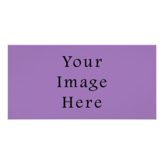 African Violet Purple Color Trend Blank Template Custom Photo Card