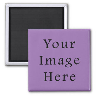 African Violet Purple Color Trend Blank Template Square Magnet