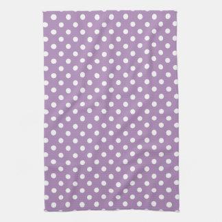 African Violet Purple Polka Dot Kitchen Towels