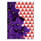 African Violet Red Pyramid Frameable Note Card