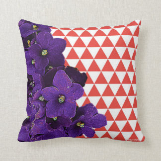 African Violet Red Pyramid Pillow