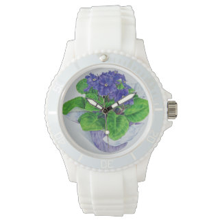 African Violet Watch