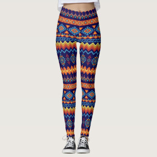 African Warm Colors Pattern Leggings