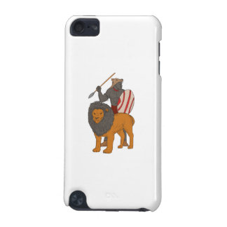 African Warrior Spear Hunting With Lion Drawing iPod Touch 5G Cases