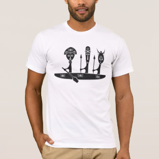 African Warriors in a Canoe T-Shirt