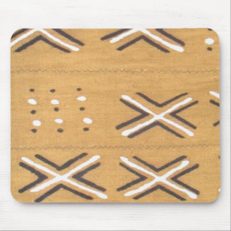 African white black crosses mud cloth mouse pad