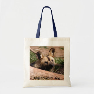 African Wild Dog-012, African Wild Dog Tote Bag