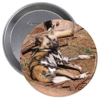african-wild-dog-018 10 cm round badge