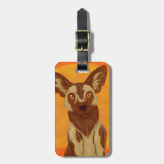 African Wild Dog Bag Tag