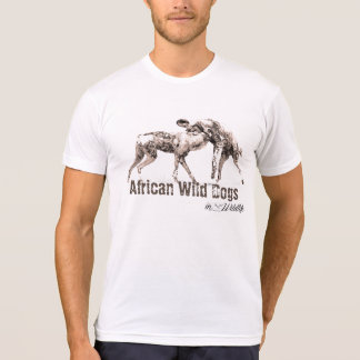 African Wild Dogs Men's Poly-Cotton Blend T-Shirt