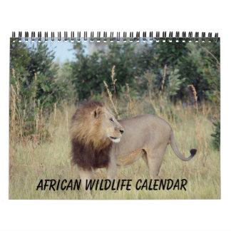 AFRICAN WILDLIFE CALENDAR