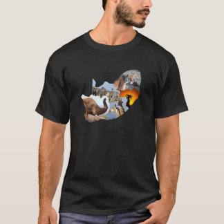 African Wildlife continent collage 4 T-Shirt