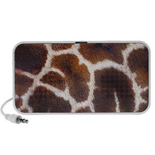 African Wildlife Giraffe Fur Photo Design Portable Speaker