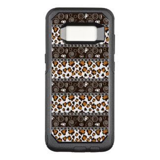 African with cheetah skin pattern OtterBox commuter samsung galaxy s8 case