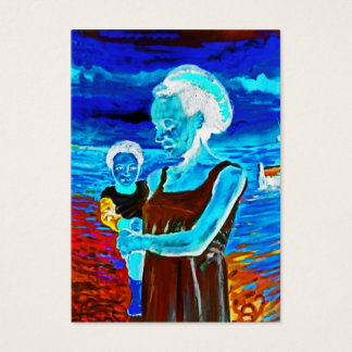 African Woman and Child, Surreal Business Card