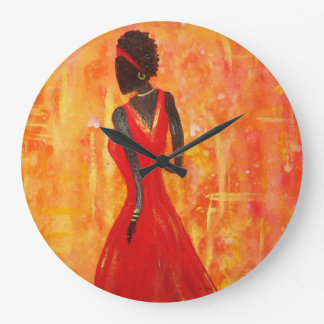 African Woman Clock