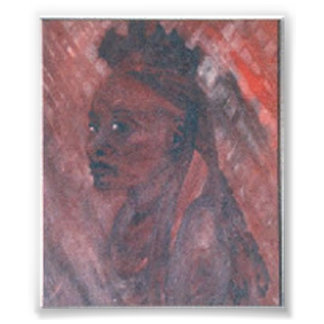 African Woman Oil Print