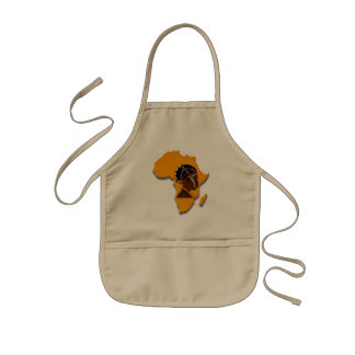 African Woman on the Continent Kids Apron