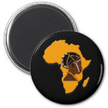 African Woman on the Continent Magnets